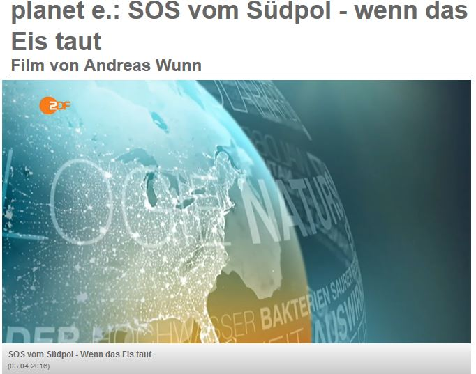 ZDF SOS vom Südpol