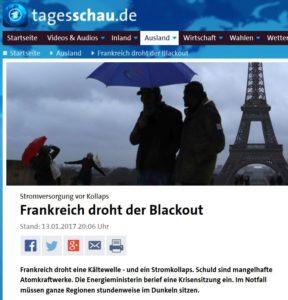 Frankreich droht Blackout vs Wenn kein Wind nicht weht importieren wir Atomstrom aus Frankreich
