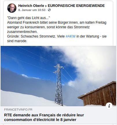Neues aus Frankreich - Atomenergie