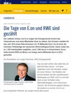 NDR Döschner-Die Tage von E.on und RWE sind gezählt