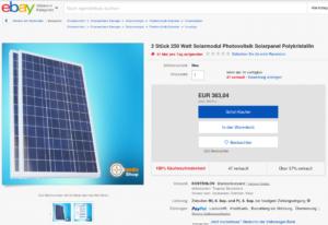 ebay Solarmodule