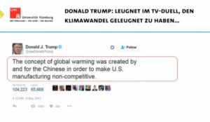 Donald Trump leugnet den Klimawandel