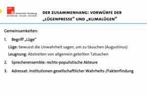 """Zusammenhänge """"Lügenpresse - Klimalügen"""""""