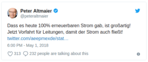 Altmaier-Tweet