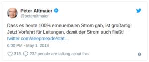 Altmaier-Tweet