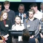 Greta Thunberg spricht vor der EU