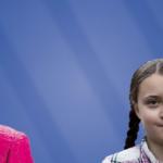 Merkel und Greta Thunberg - Bildkollage