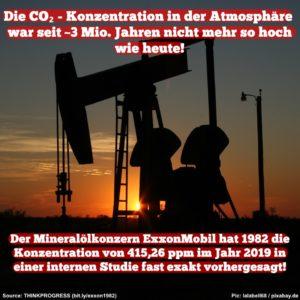 ExxonMobile wusste vom Klimawandel bereits 1982