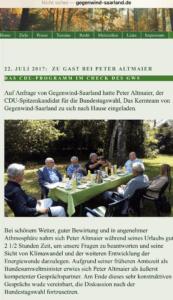 Altmaier bei Gegenwind Saarland