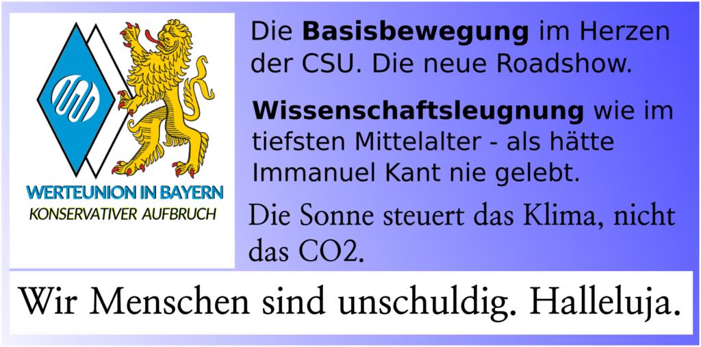 Wissenschaftsleugnung nun auch bei der CSU?