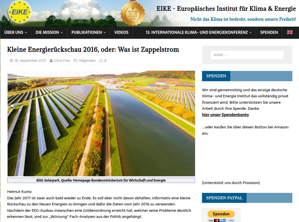 Screenshot Wahnwitz-Verein EIKE