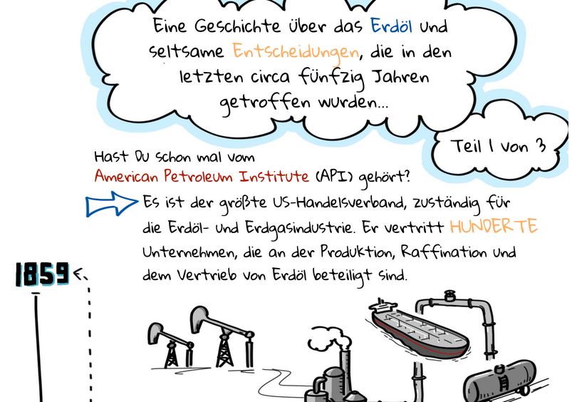 Ben Franta – Erdöl-Comic – eine wahre Geschichte in 3 Teilen – Teil 2