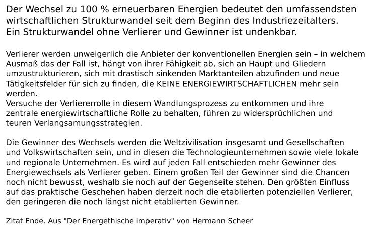 Eine schalende Ohrfeige für Peter Altmaier - Hermann Scheer