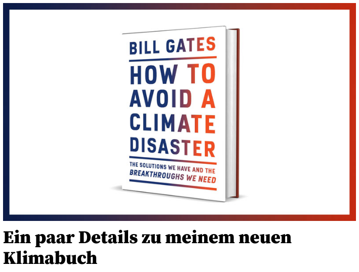 Bill Gates neues Klimabuch