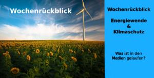 Titelbild Wochenrückblick Wochenrückblick - Energiewende & Klimaschutz